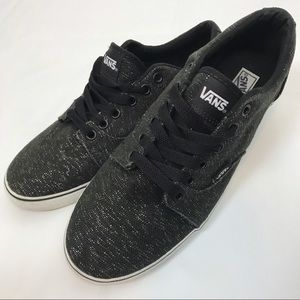 Vans Black Luxe Sparkle Oxford Sneakers Metallic
